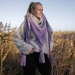 shawl cosy fine faded