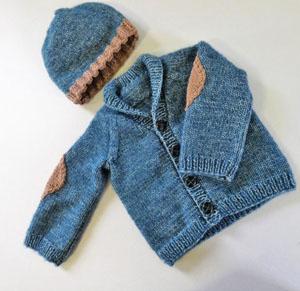 Breipakket Stoer Baby vestje en mutsje